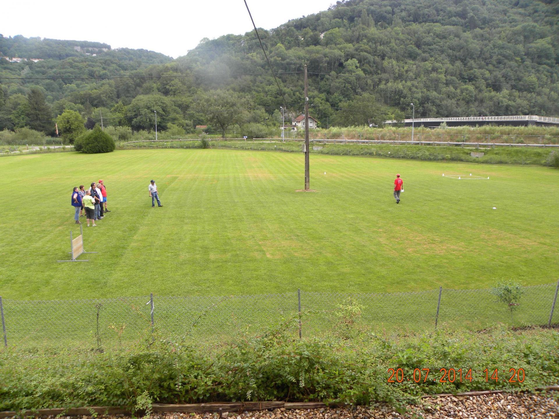 Joli terrain du CC Besançon